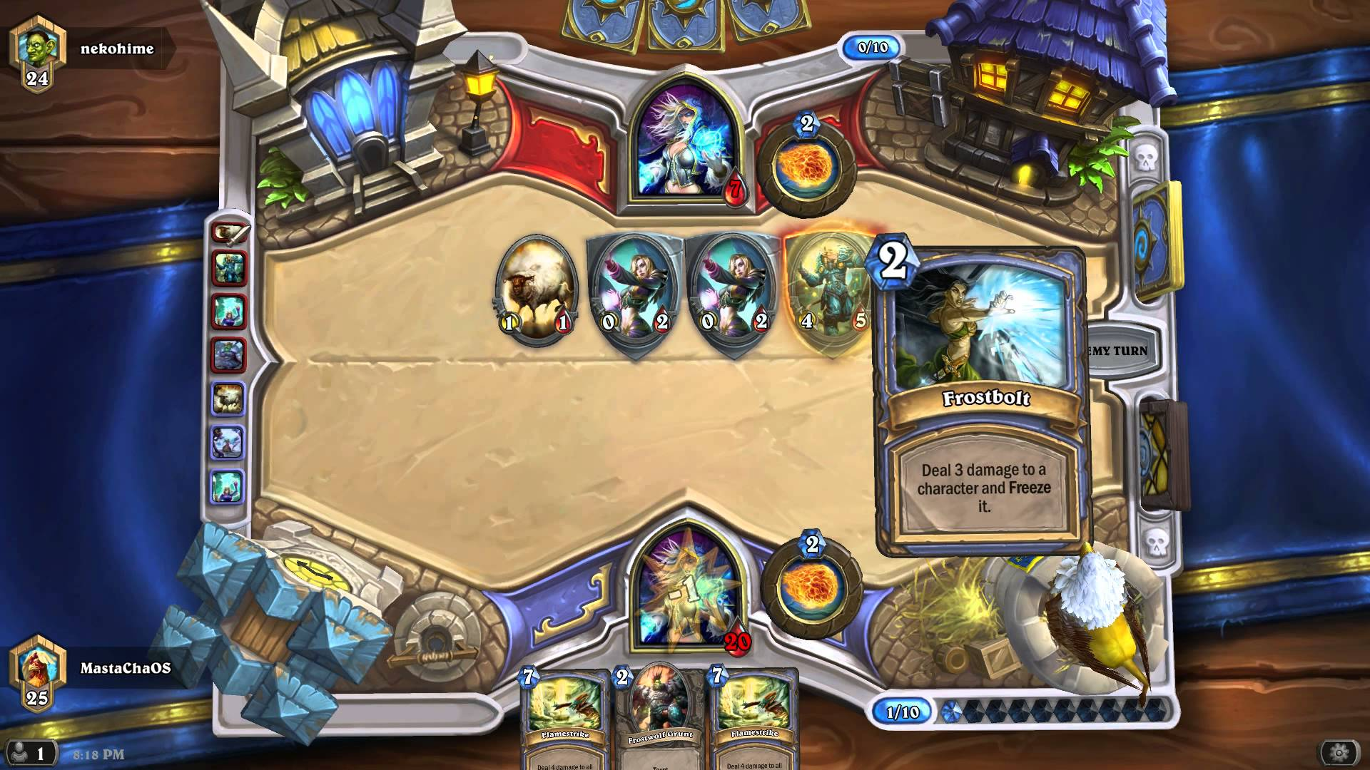 Hearthstone Ranked – Mage vs Mage