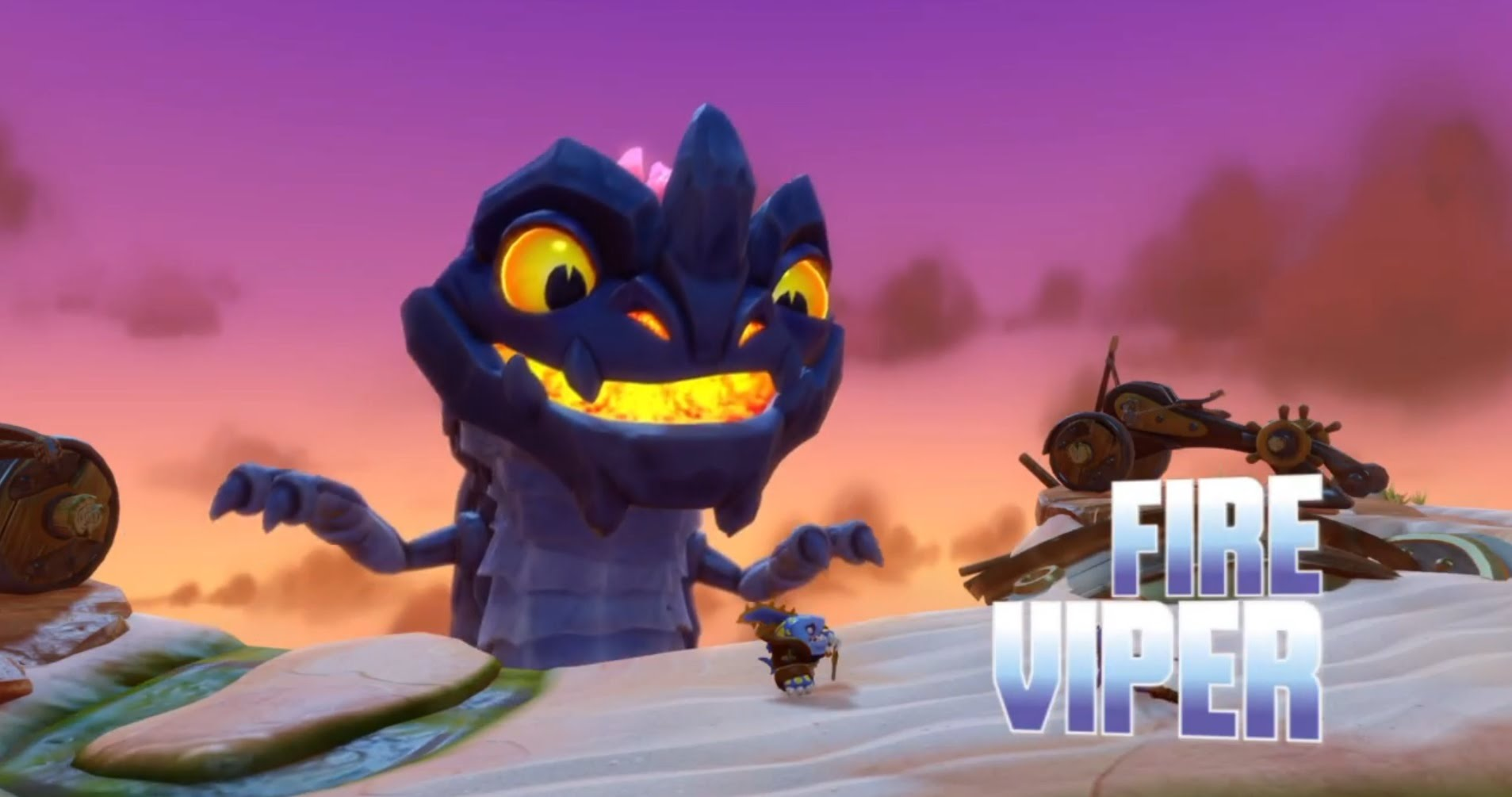 Skylanders Swap Force Boss Battle: Fire Viper (PS4)