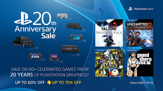 PlayStation 20th Anniversary Sale Starts Today: 60+ Games Discounted
