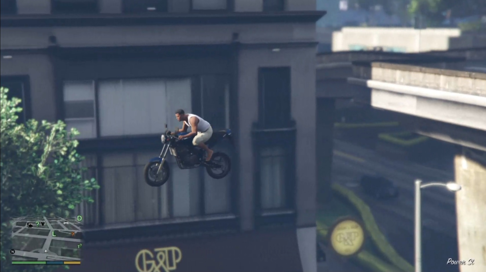 GTA V – First Person Motorcycle Stunt Jump (PS4)